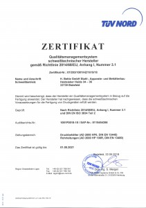 AD2000 - ISO 3834-2 / bis2021